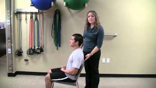Seated Mid-Back Extension Stretch