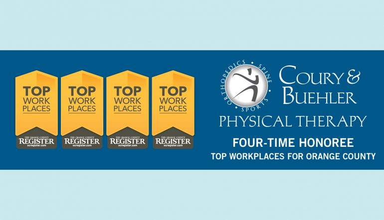 Top Workplaces Award 2016 For Coury Buehler Physical Therapy