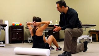 Foam Roll Thoracic Spine Extension