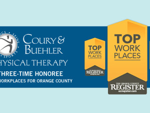 Top Workplaces Award 2015 for Coury & Buehler Physical Therapy