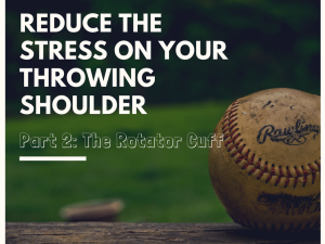 Reduce the stress on your throwing shoulder. Part 2: The Shoulder Blade