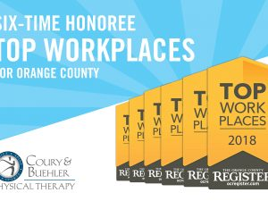 Top Workplaces Award 2018 for Coury & Buehler Physical Therapy